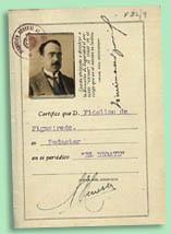 Cartão de imprensa de Fidelino de Figueiredo como redactor de El Debate, 1928 BNP Esp. N27/9